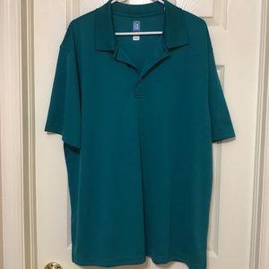 Men's polo style golf shirt.